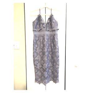 Lulu's Vienna Dusty Blue Midi dress